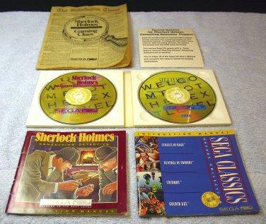 Sherlock Holmes Sega CD, and 4 classics, Streets of Rage, Revenge of Shinobi, Columns, Golden Axe.