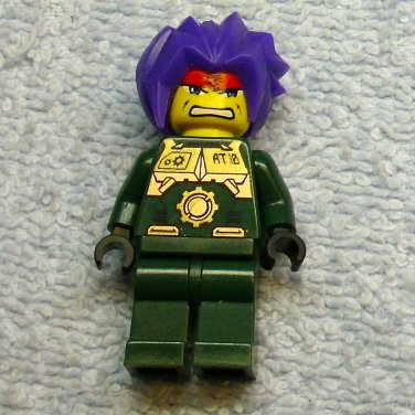 LEGO 3886 8100 8108 mini figure RYO, EXO FORCE camo, Green Exo Fighter