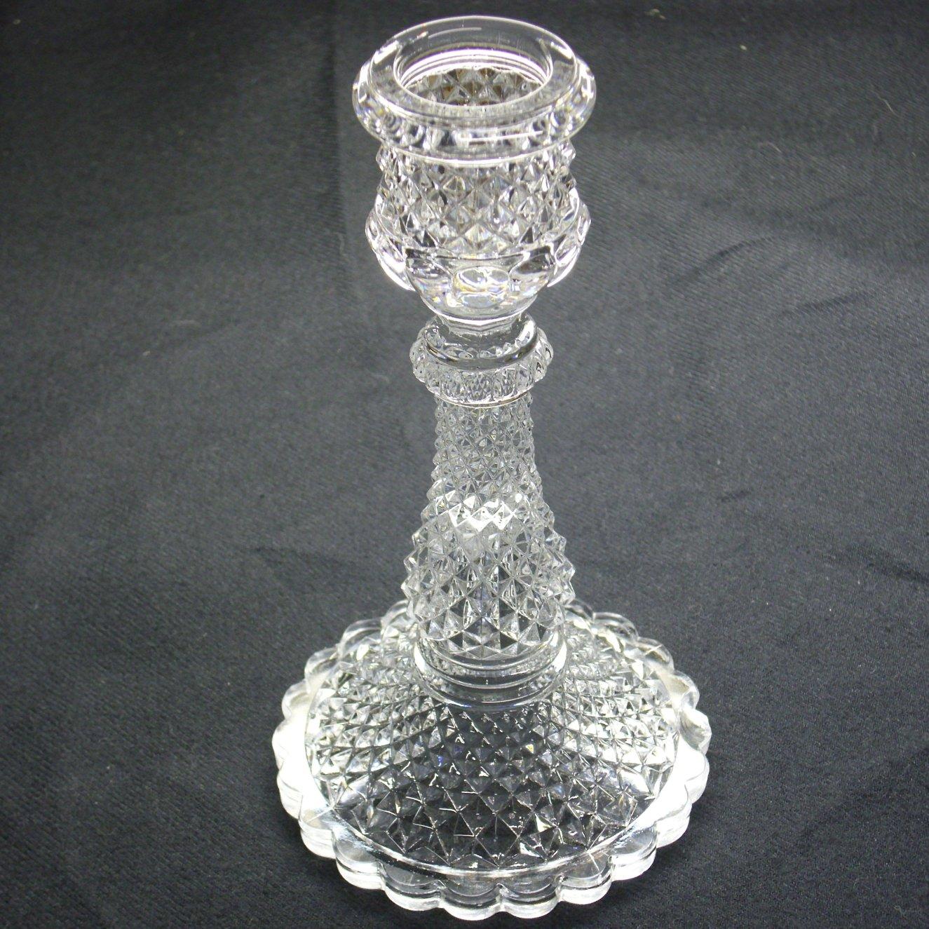 Baccarat glass crystal candlestick , candleholder.