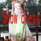 dinner dress annual  Long print dress style dinner / dance / reception / show dress