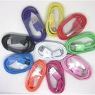 20pcs/lot Colorful micro usb data&charging cable for Samsung Galaxy S2 i9001 htc Motorola