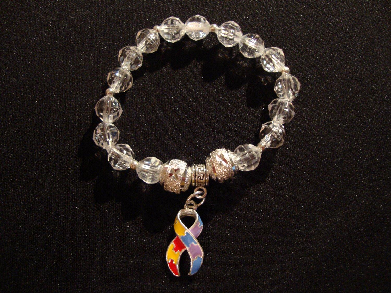 Clear Autism bracelet