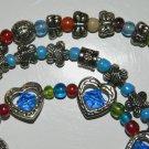 3 multi-color bead bracelets