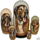 Spanish Mastiff on Russian Nesting Dolls.  Dogs #2