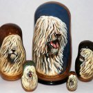 Komondor on Russian Nesting Dolls. Dogs. #2.