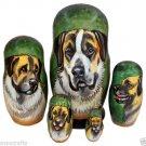 Anatolian Shepherd Dog on Five Russian Nesting Dolls. Dogs. #1