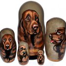 Field Spaniel on Russian Nesting Dolls. Dogs. #2