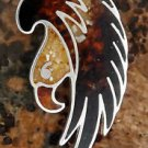 Eagle Pendant. Amber. Sterling Silver.