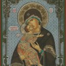 Madonna of Vladimir. Christian Icon from Russia. Med.