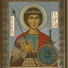 "Saint George. Christian Icon. Russia. Small. ""Will Protect You""."
