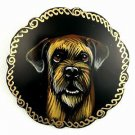 Border Terrier on Russian Brooch. Dog.