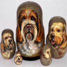 Spinole Italiano on Five Russian Nesting Dolls. Dogs.
