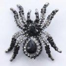 Vogue Black Tarantula Spider Brooch Pin W/ Swarovski Crystals