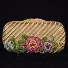 Luxurious Clutch Evening Handbag Purse Bag W/ Swarovski Crystals Special Offer