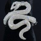 H-Quality Fashion Ainmal Clear Snake Bracelet Bangle w/ Swarovsik Crystals