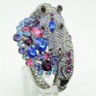 High Quality Steed Horse Bracelet Bangle Cuff W/ Purple Swarovski Crystals