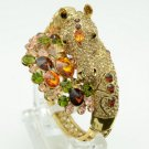 High Quality Steed Horse Bracelet Bangle Cuff W/ Topaz Swarovski Crystals