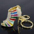 Pretty Multicolor High-Heel Shoe Key Ring KeyChain W/ Swarovski Crystals