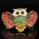 Hot High Quality Swarovski Crystals Red Owl Bracelet Bangle Cuff
