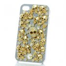 Fearsome Crystals Gold Tone Starfish Skeleton Skull Cover Case Shell Iphone 4/4S