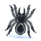 Ghastful Tarantula Spider Brooch Broach Pin W/ Rhinestone Crystals Halloween