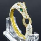 Gold Tone Wildness Animal Horse Bracelet Brangle W/ Clear Rhinestone Crystals