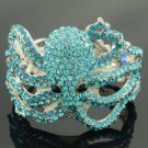 Vogue Blue Crystals Animal Octopus Bracelet Bangle Cuff Jewelry Rhinestone