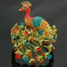 New H-Quality Multicolor Peacock Bracelet Bangle Cuff w/ Swarovski Crystals
