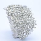 Snowflake Leaf Bracelet Bangle Clear Swarovski Crystal