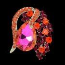 """Rhinestone Crystals Cute Hyacinth Flower Brooch Broach Pin 2.0"""""""