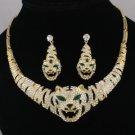 Hot H-Quality Vivid Tiger Necklace Earring Set W/ Swarovski Crystals
