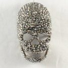 Swarovski Crystals Unique Black Cool Skull Brooch Pin 3.2""