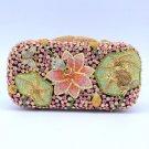 Lotus Leaf Butterfly Frog Clutch Evening Bag Purse Handbag w Swarovski Crystal