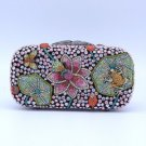 Swarovski Crystal Lotus Butterfly Froggy Frog Clutch Evening Bag Purse Handbag