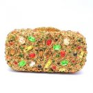 Deluxe Multicolour Swarovski Crystals Laday Clutch  Evening Bag Purse Handbag