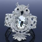 Chic Fashion Drop Rhinestone Crystals Animal Elastic Clear Owl Bracelet Bangle