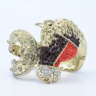 Rhinestone Crystals Vintage Style Red Steed Horse Bracelet Bangle Cuff