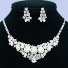 Teardrop Clear Swarovski Crystals Wedding Vogue Necklace Earring Jewelry Sets