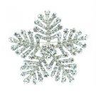 """Popular Clear Snowflake Brooch Pin 2.4"""" w/ Rhinestone Crystals For Wedding 8803"""