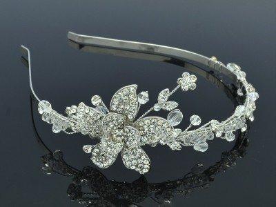 Swarovski Crystals Pretty Bridal Wedding Flower Headband Jewelry 26217R