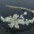 Swarovski Crystals Pretty Bridal Wedding Flower Headband Jewelry 26217R