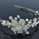 Wedding Imitation Pearl Flower Headband w/ Clear Swarovski Crystals 219RPL