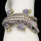 Terrible Animal Purple A/B Crocodile Bracelet Bangle Cuff Swarovski Crystals