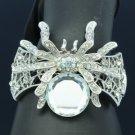 Fashion Clear Tarantula Spider Bracelet Bangle W/ Rhinestone Crystals E8953