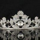 Beautiful Bridal Wedding Tiara Crown W/ High Quality Clear Swarovski Crystals