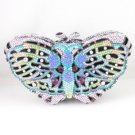 High Quality Blue Swarovski Crystals Butterfly Clutch Evening Handbag Purse 1161