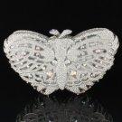 Gorgeous Clear Swarovski Crystal Butterfly Clutch Evening Bag Purse Handbag