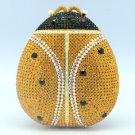 Unique Topaz Ladybug Ladybird Clutch Evening Bag Purse W/ Swarovski Crystals