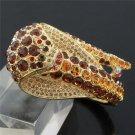 Swarovski Crystals High Quality Brown Cobra Snake Bracelet Bangle Cuff