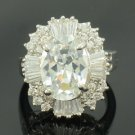 Swarovski Crystals Clear Zircon Wedding Cocktail Ring Size 7#